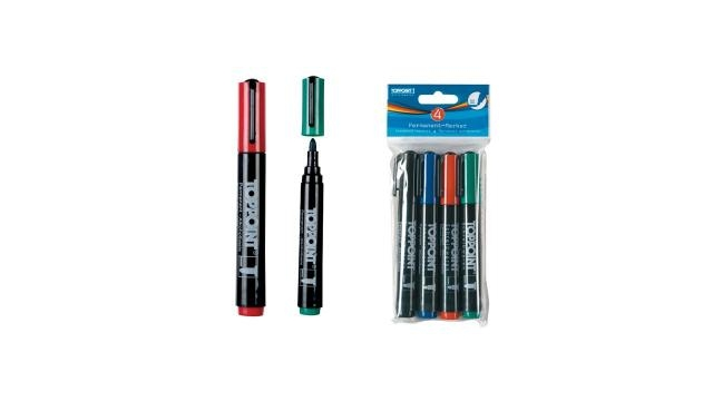 Toppoint Permanent Markers 4 stuks
