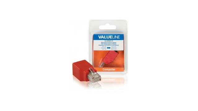 Valueline VLCB89251R Netwerkadapter Rj45 Male - Rj45 Female Rood