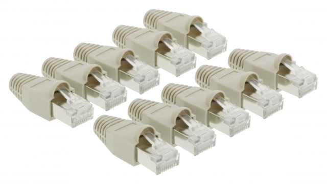 Valueline VLCP89350E Computer Connector Kit Rj45 Transparant / Grijs