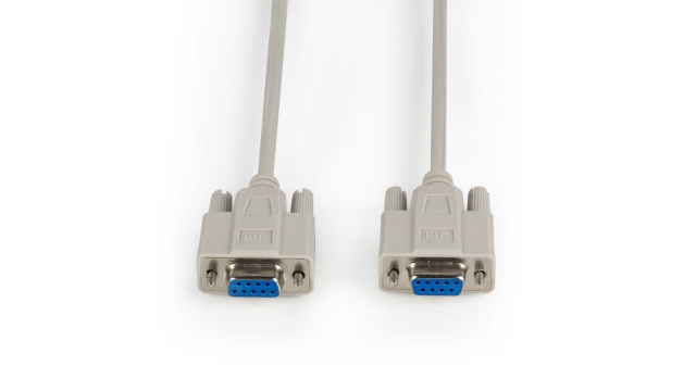 Valueline VLCP52057B30 Nulmodemkabel Sub-d 9-pins Female - Sub-d 9-pins Female 3.0 M Ivoor